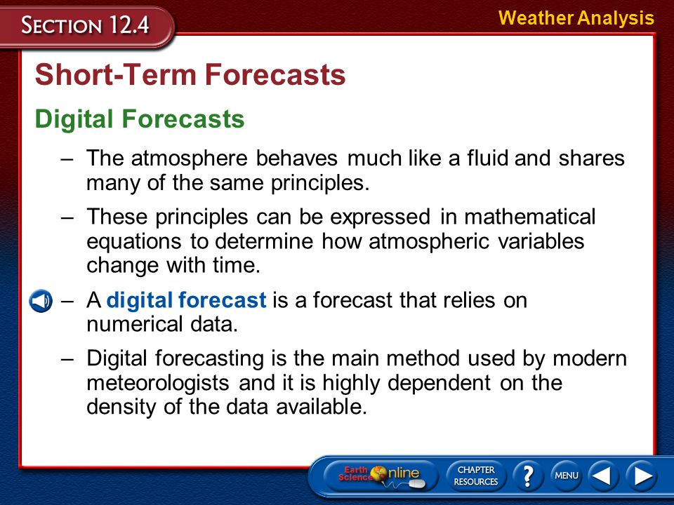 Short-Term Forecasts Digital Forecasts