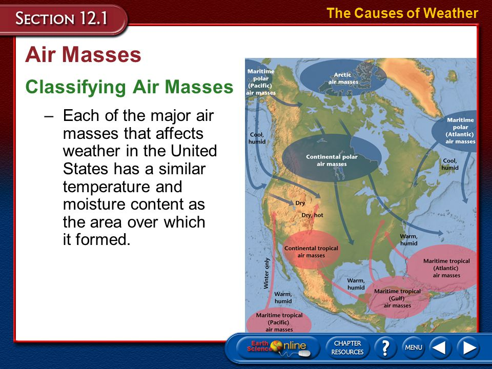 Air Masses Classifying Air Masses