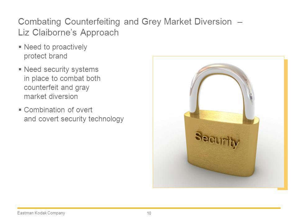 Combating Counterfeiting and Grey Market Diversion – Liz Claiborne's Approach