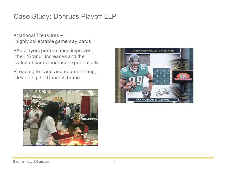 Case Study: Donruss Playoff LLP
