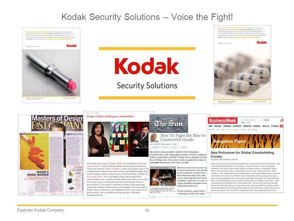 Kodak Security Solutions – Voice the Fight!
