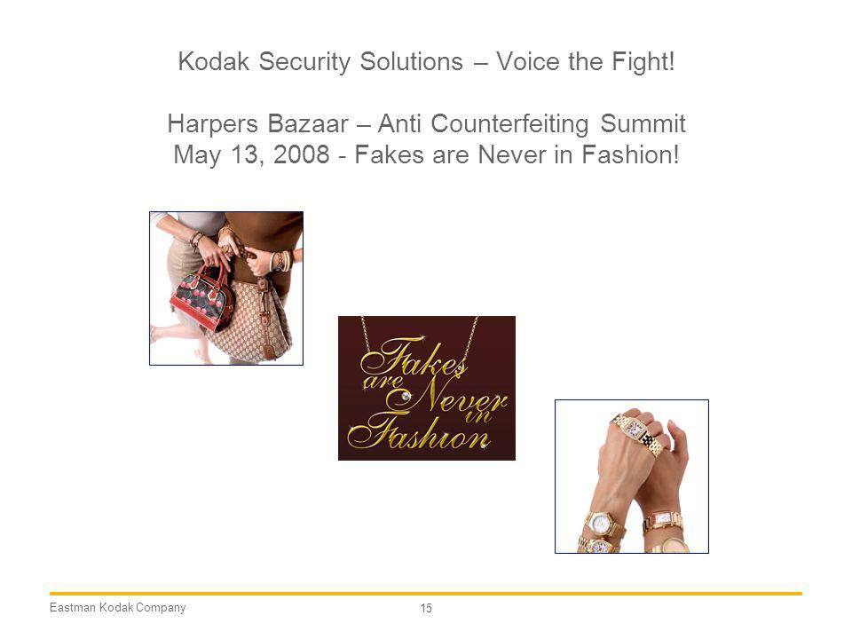Kodak Security Solutions – Voice the Fight