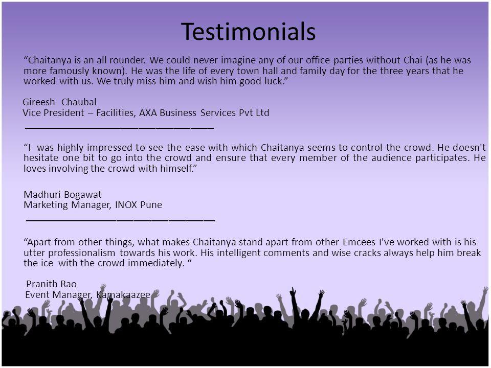 Testimonials Gireesh Chaubal