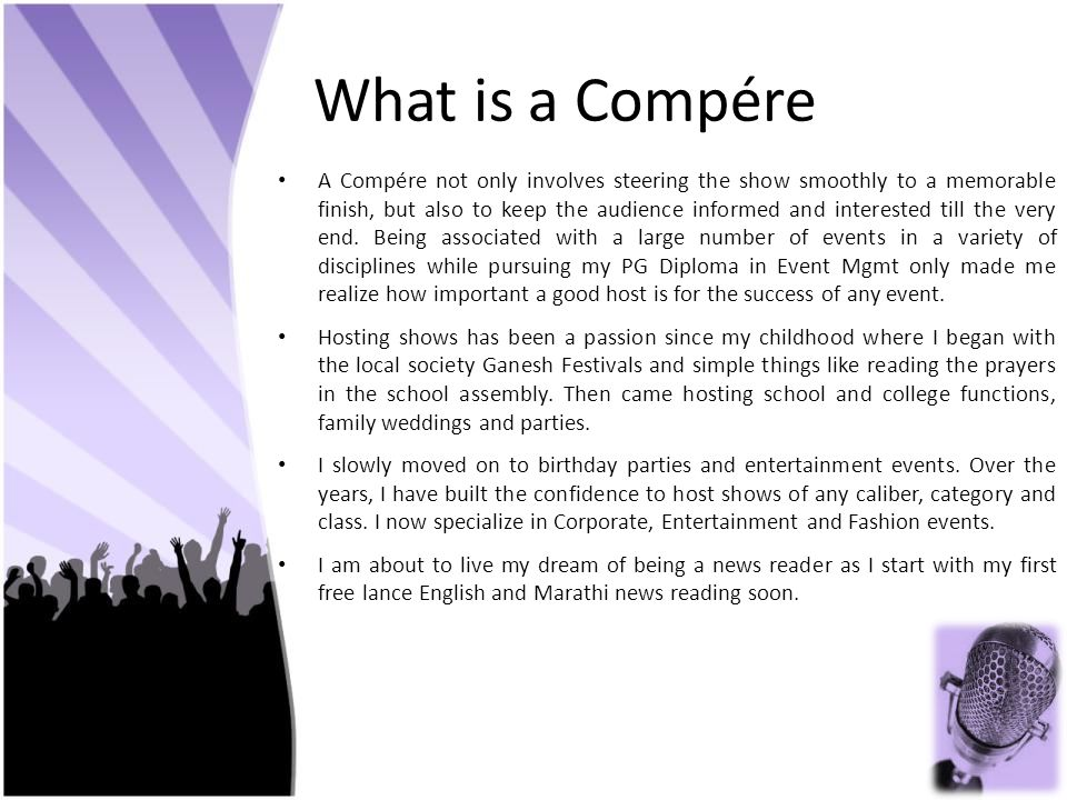 What is a Compére