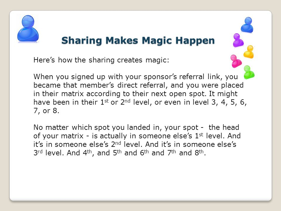 Sharing Makes Magic Happen