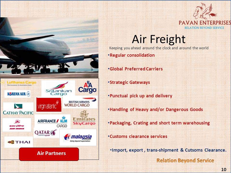 Air Freight Keeping you ahead around the clock and around the world