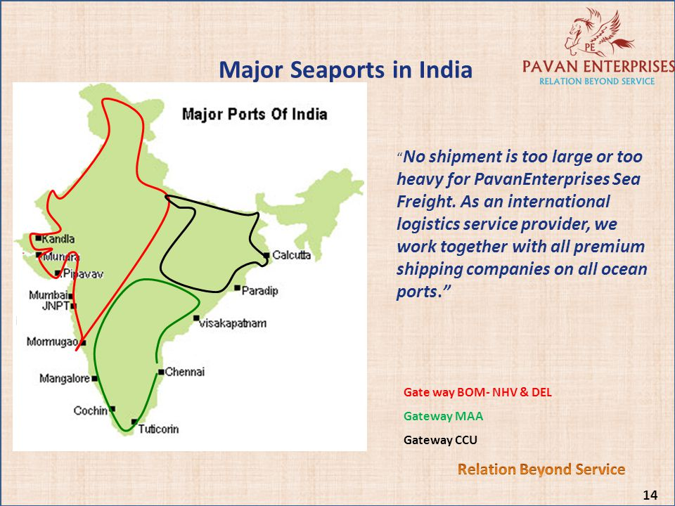 Relation Beyond Service Major Seaports in India