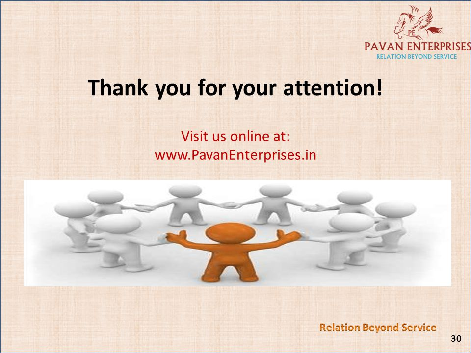 Thank you for your attention! Relation Beyond Service