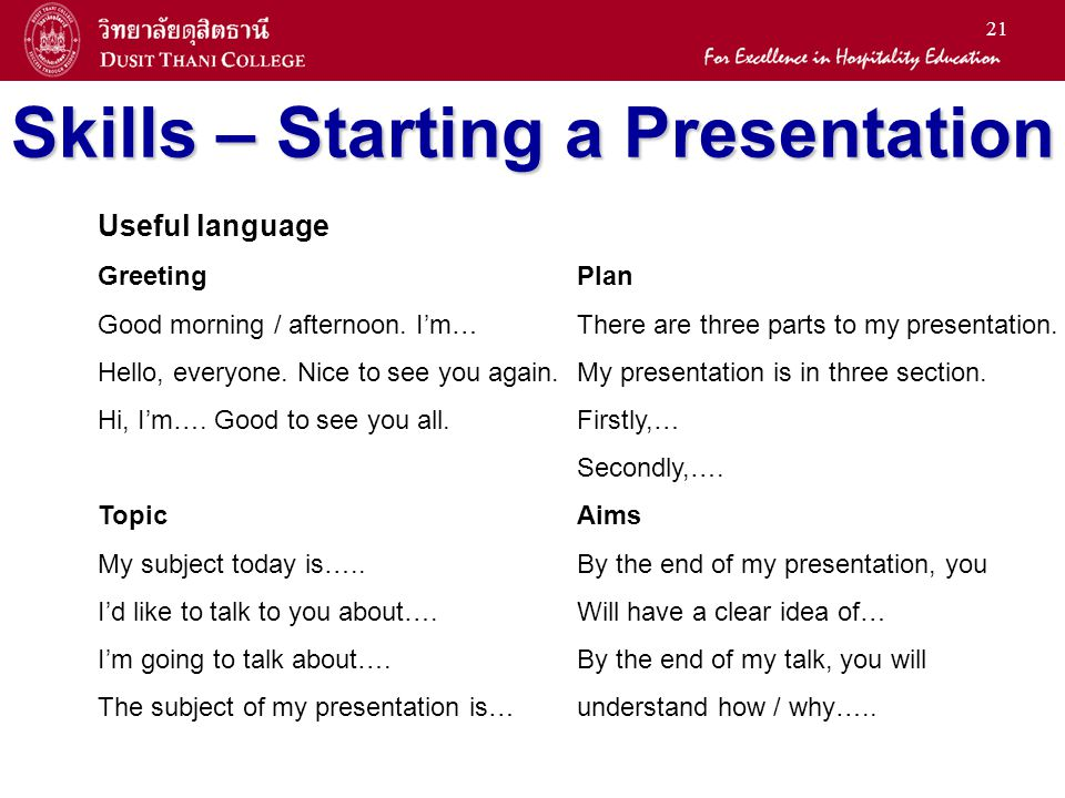 general education office ppt  skills starting a presentation