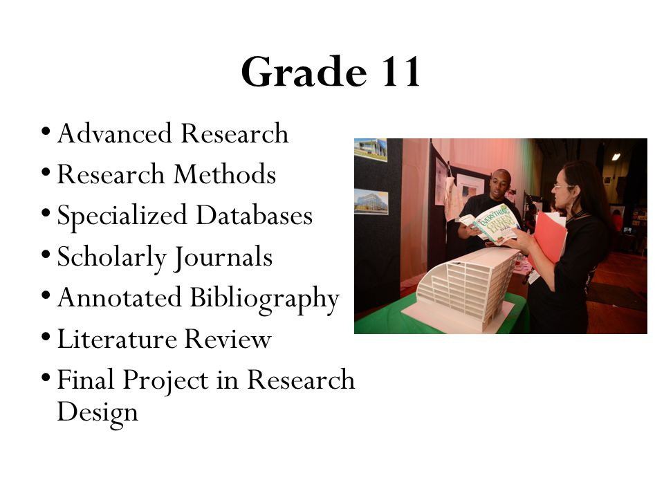 Grade 11 Advanced Research Research Methods Specialized Databases