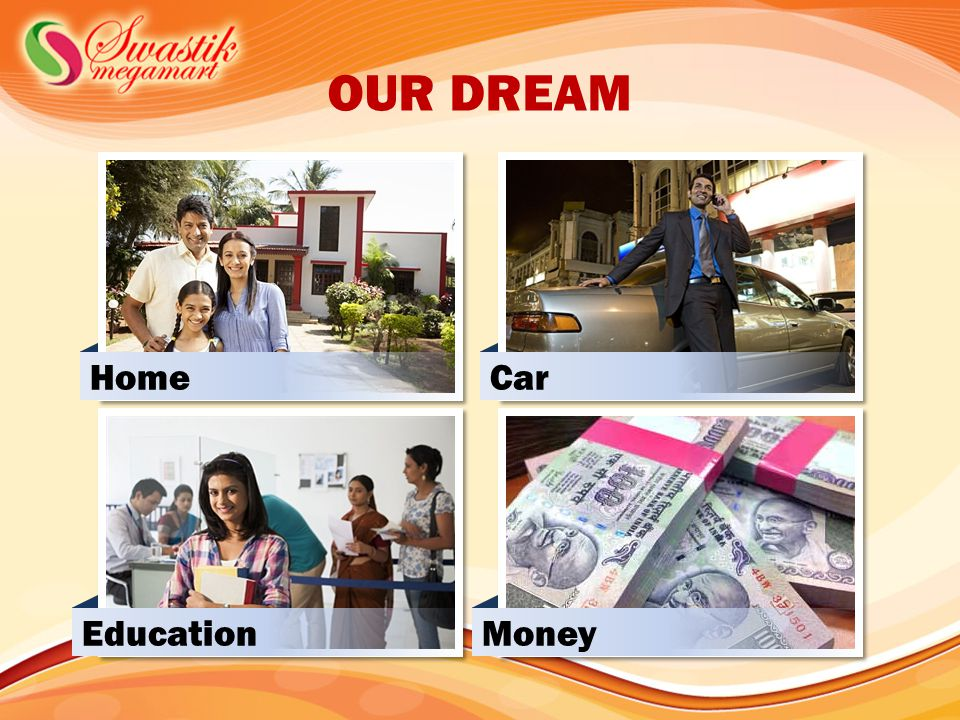 OUR DREAM Home Car Education Money