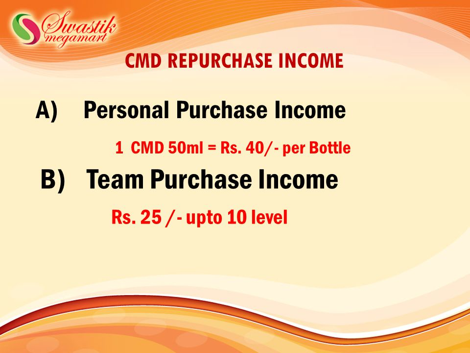 B) Team Purchase Income