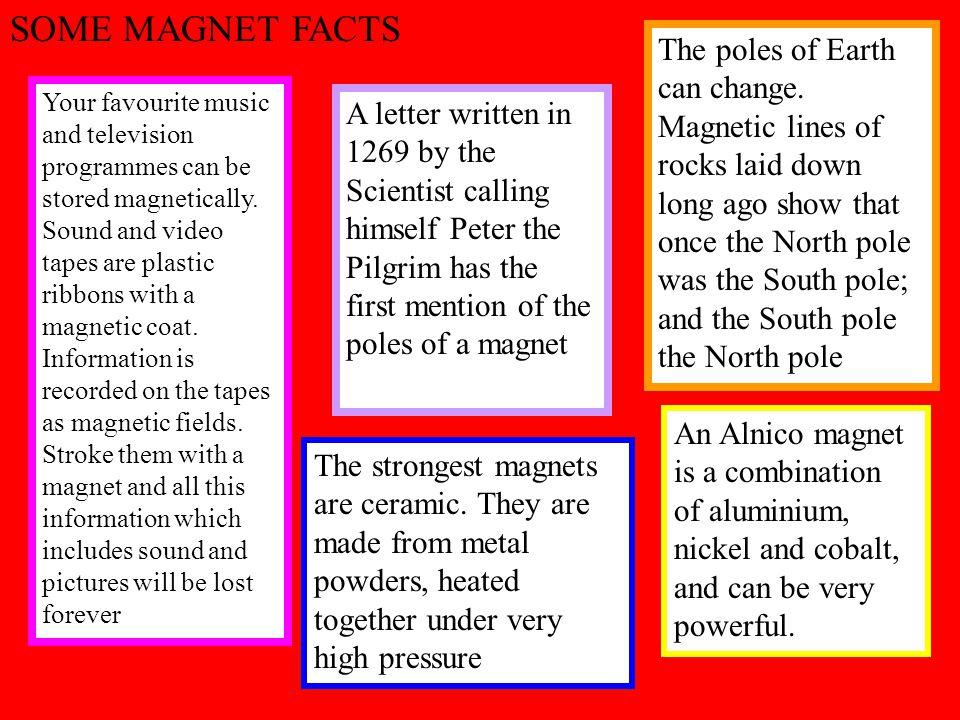 SOME MAGNET FACTS