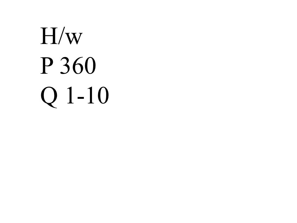 H/w P 360 Q 1-10