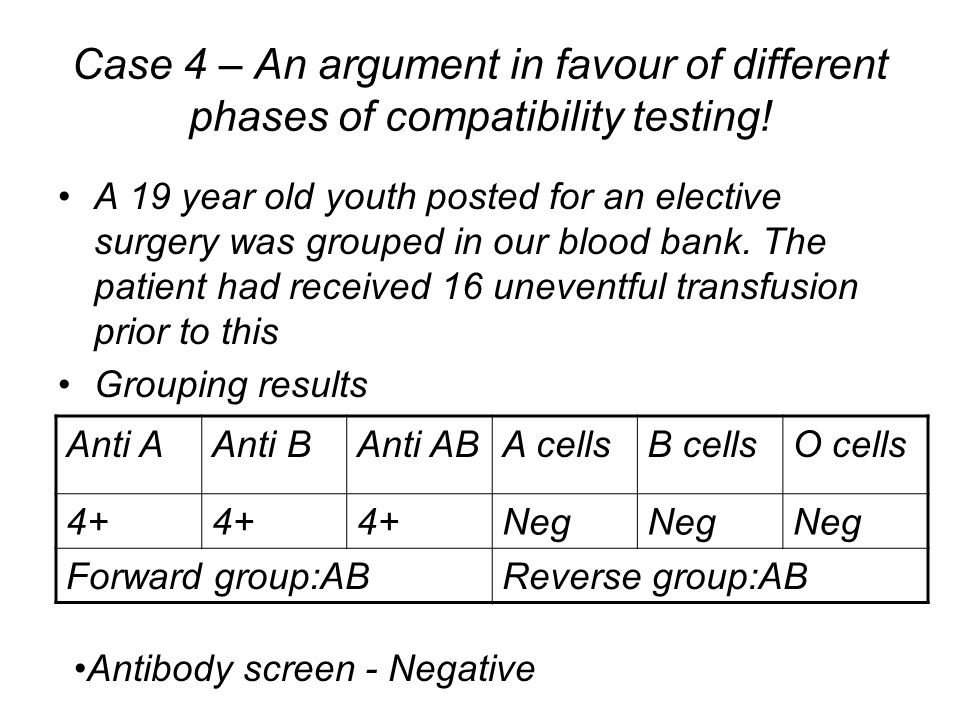 Case 4 – An argument in favour of different phases of compatibility testing!