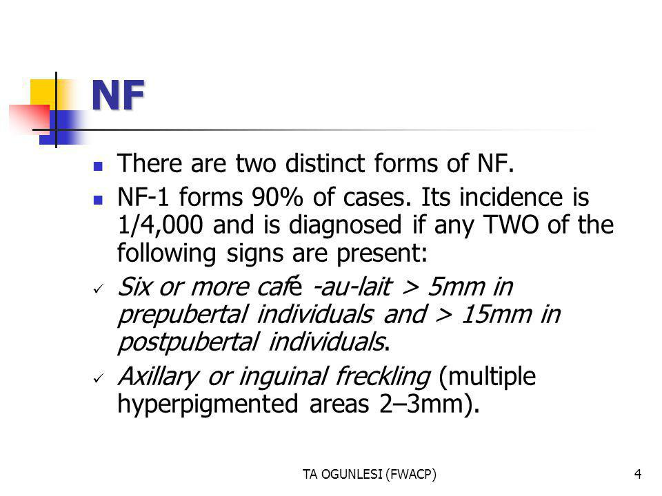NF There are two distinct forms of NF.