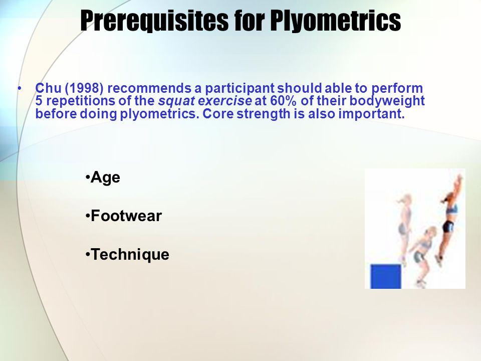 Prerequisites for Plyometrics