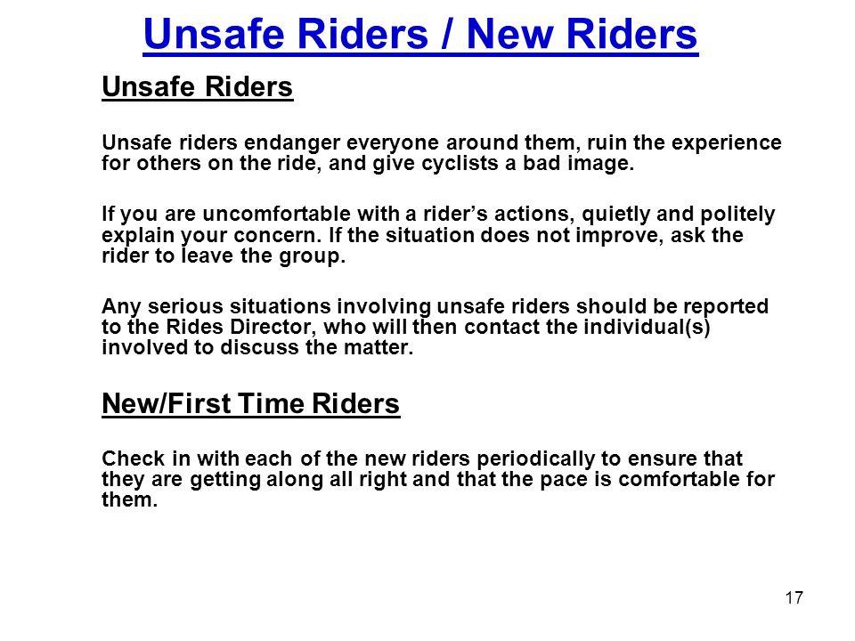 Unsafe Riders / New Riders
