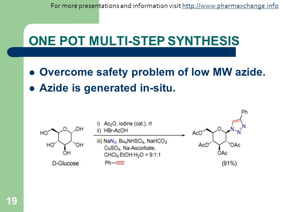 ONE POT MULTI-STEP SYNTHESIS