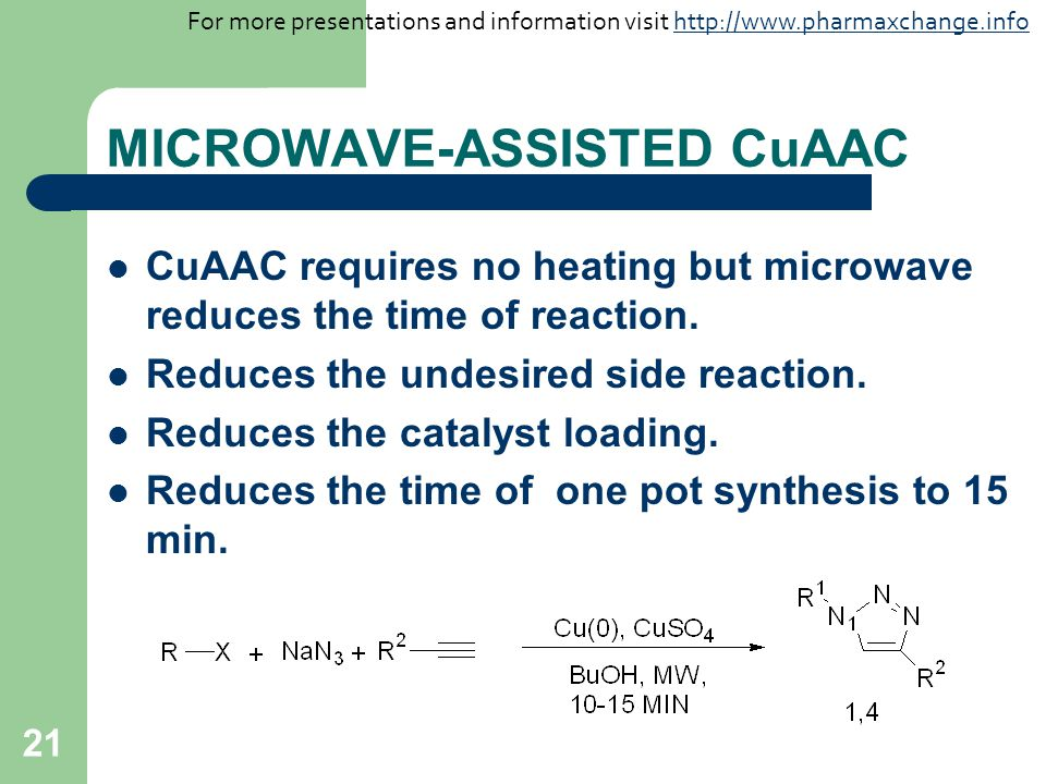 MICROWAVE-ASSISTED CuAAC