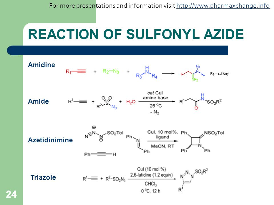 REACTION OF SULFONYL AZIDE