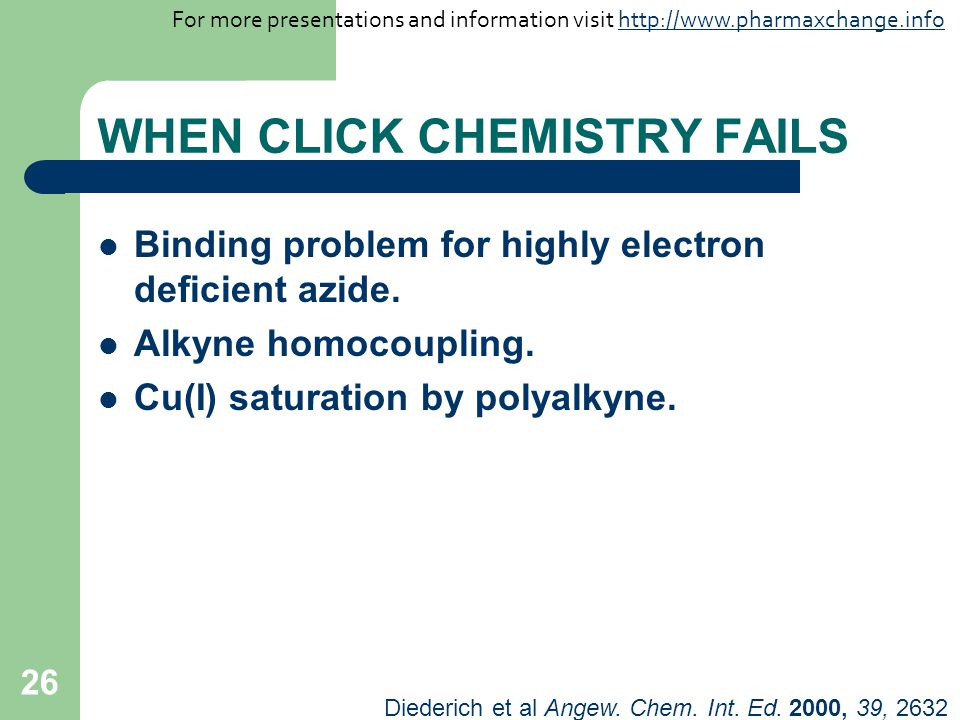 WHEN CLICK CHEMISTRY FAILS
