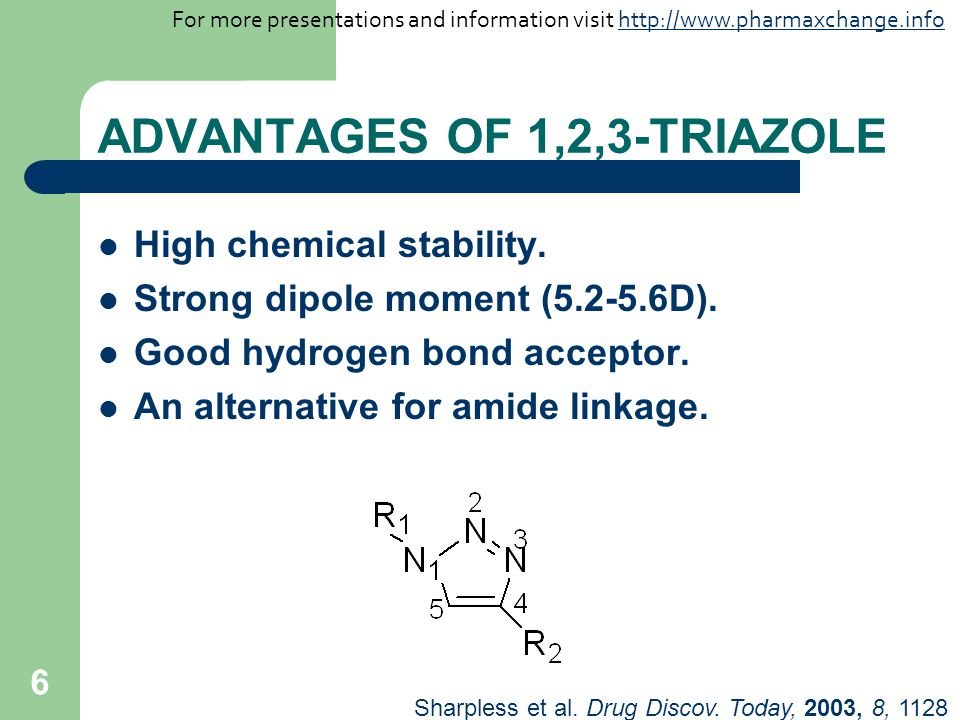 ADVANTAGES OF 1,2,3-TRIAZOLE