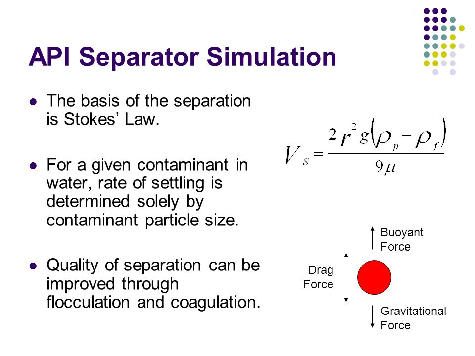 API Separator Simulation