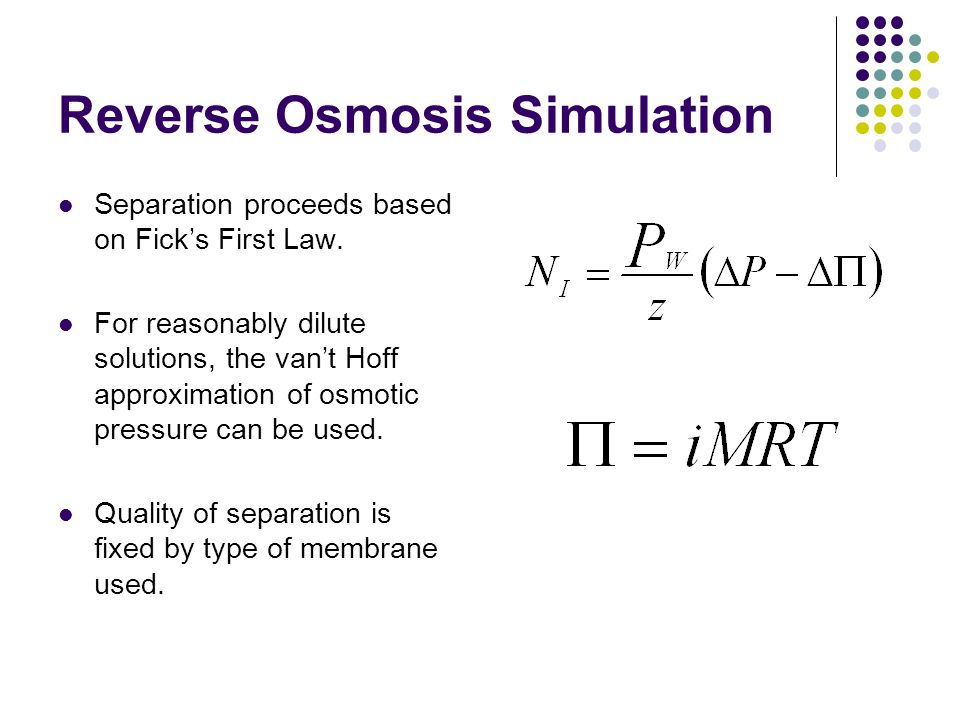 Reverse Osmosis Simulation