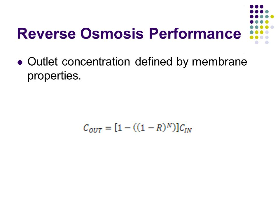 Reverse Osmosis Performance