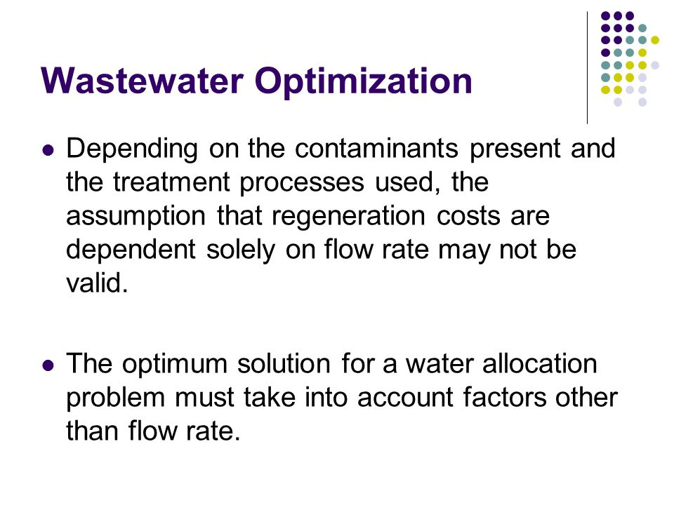 Wastewater Optimization