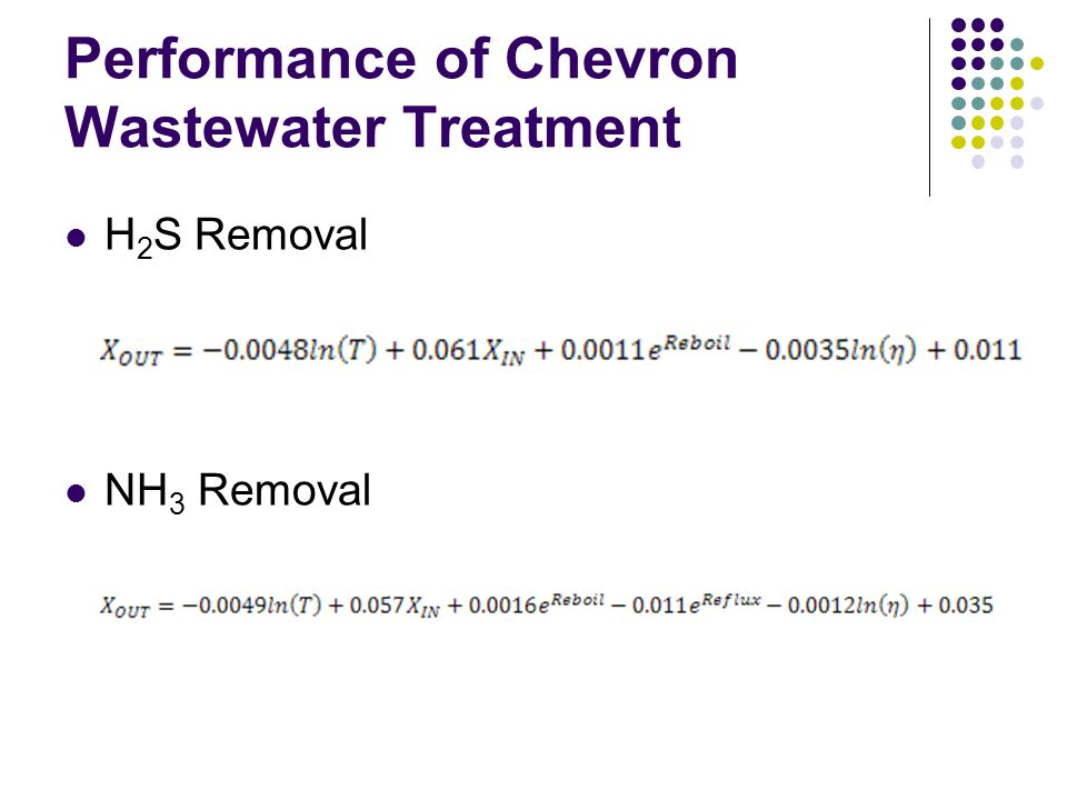 Performance of Chevron Wastewater Treatment