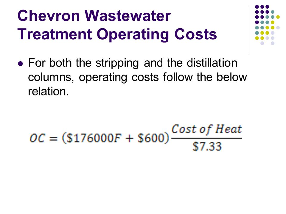 Chevron Wastewater Treatment Operating Costs