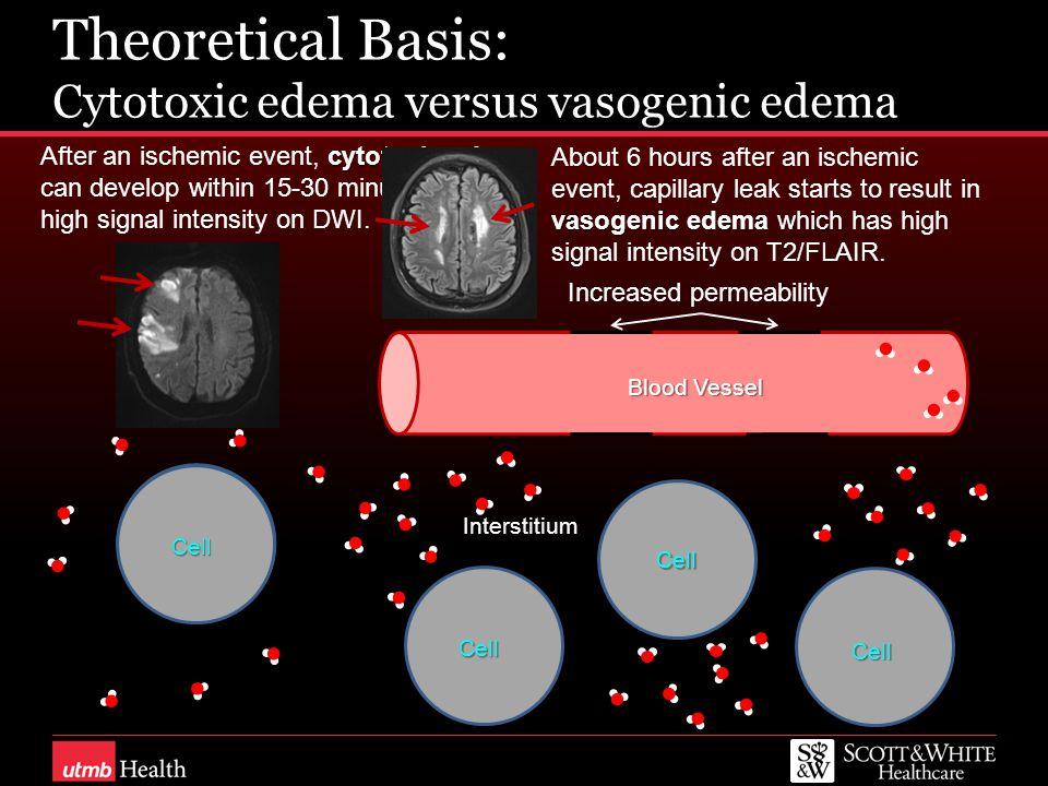 Theoretical Basis: Cytotoxic edema versus vasogenic edema