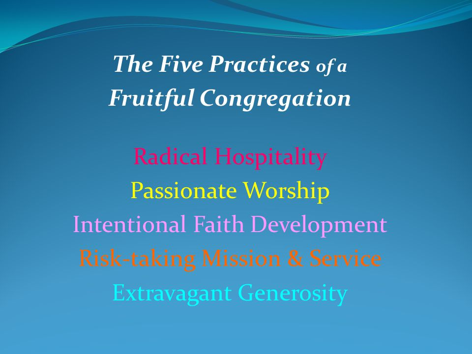 Five Practices of Fruitful Congregations · Abingdon Press