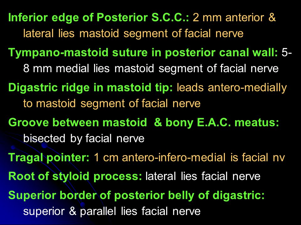 Inferior edge of Posterior S. C. C