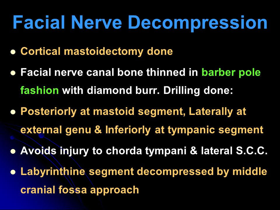 Facial Nerve Decompression