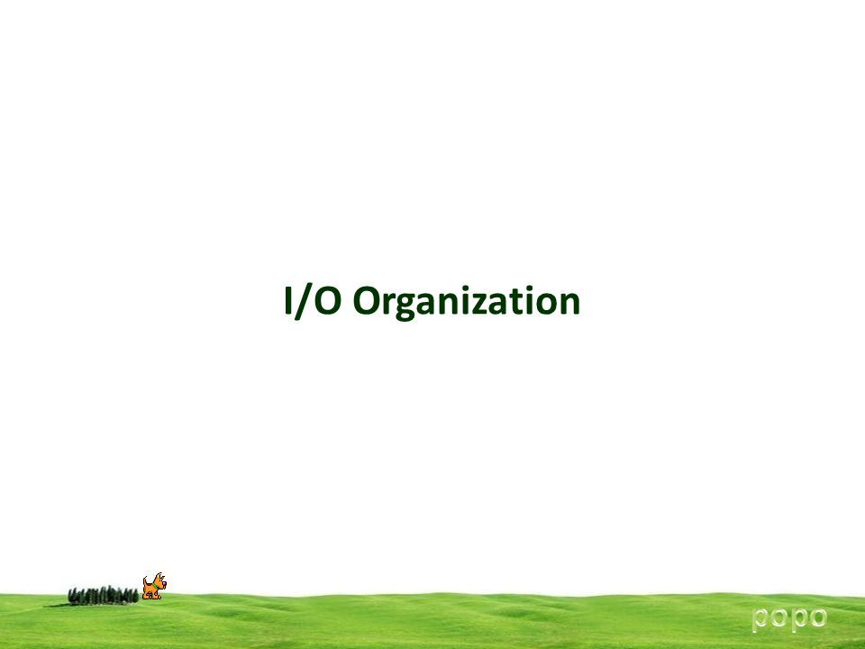 I/O Organization popo