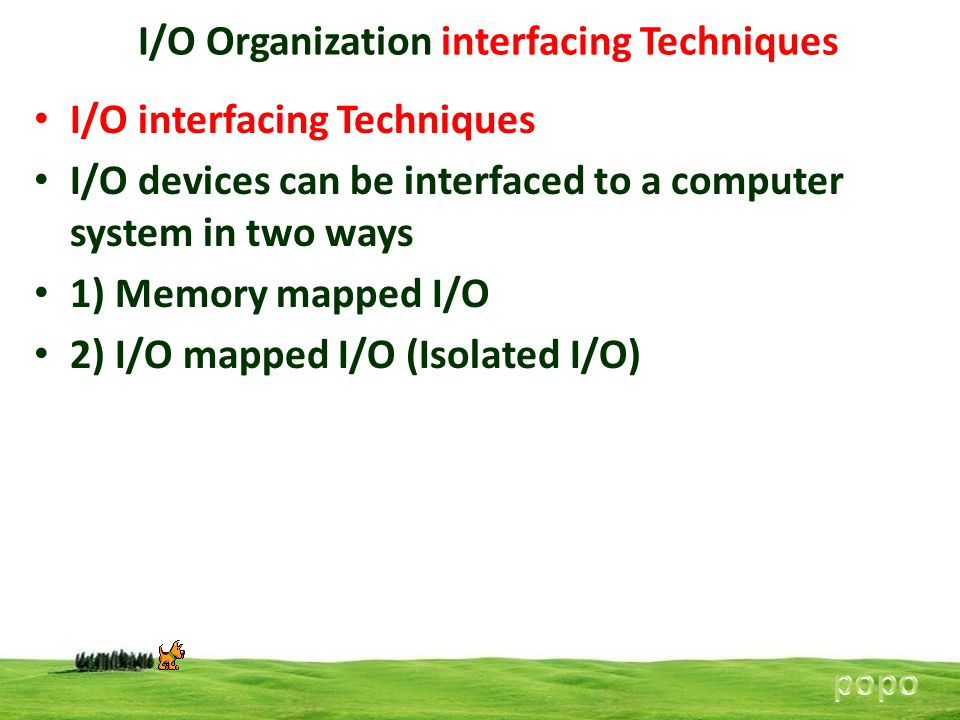 I/O Organization interfacing Techniques