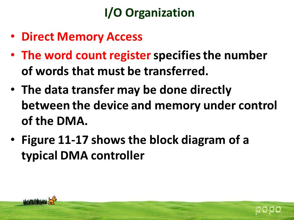 Figure 11-17 shows the block diagram of a typical DMA controller