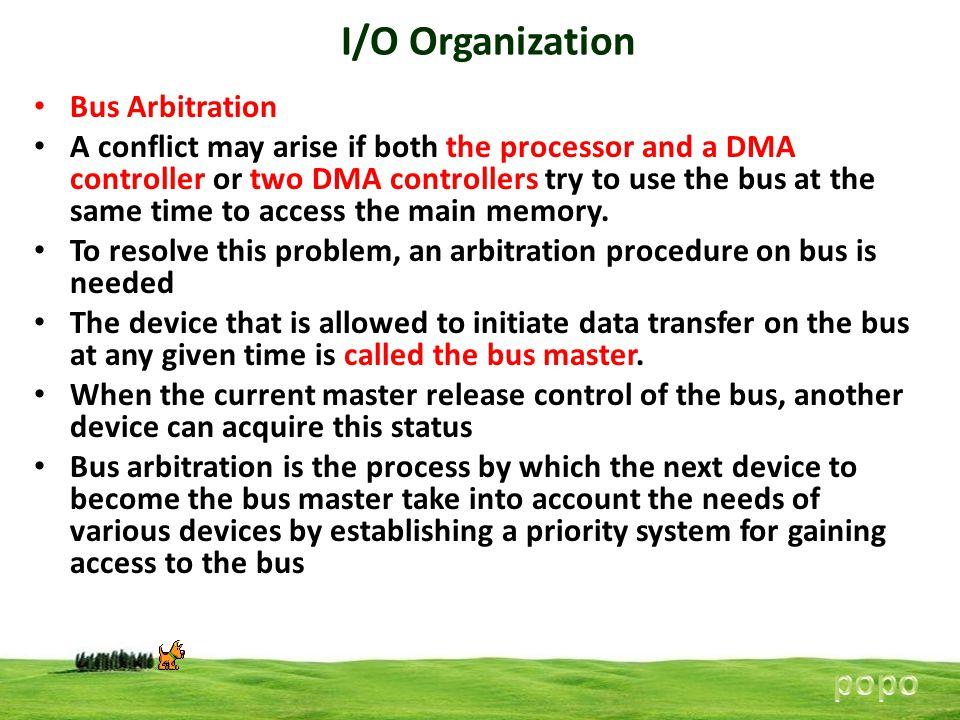 I/O Organization popo Bus Arbitration