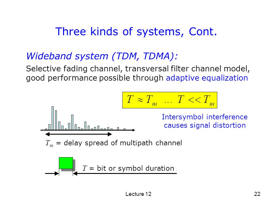 Three kinds of systems, Cont.