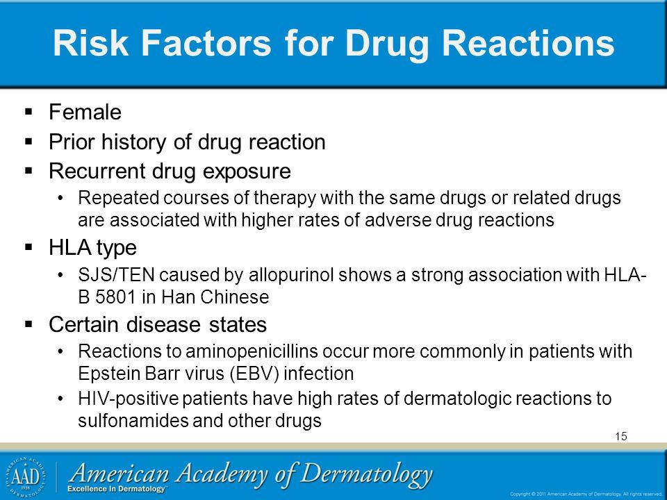 Risk Factors for Drug Reactions