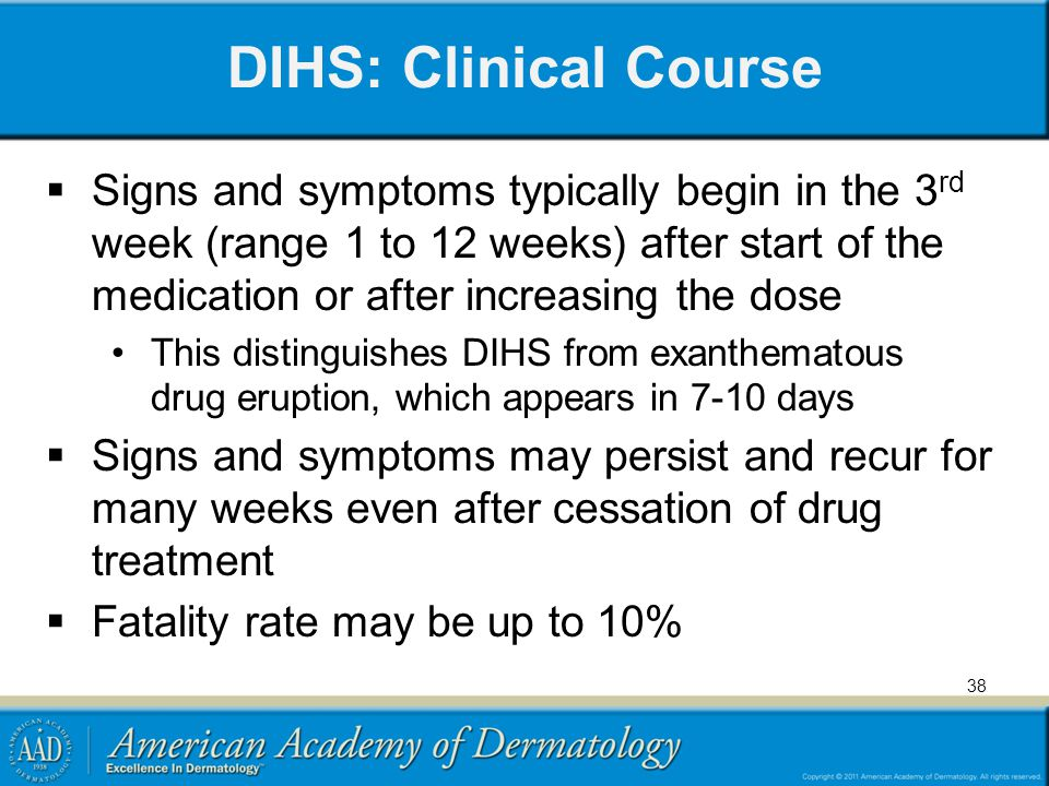 DIHS: Clinical Course