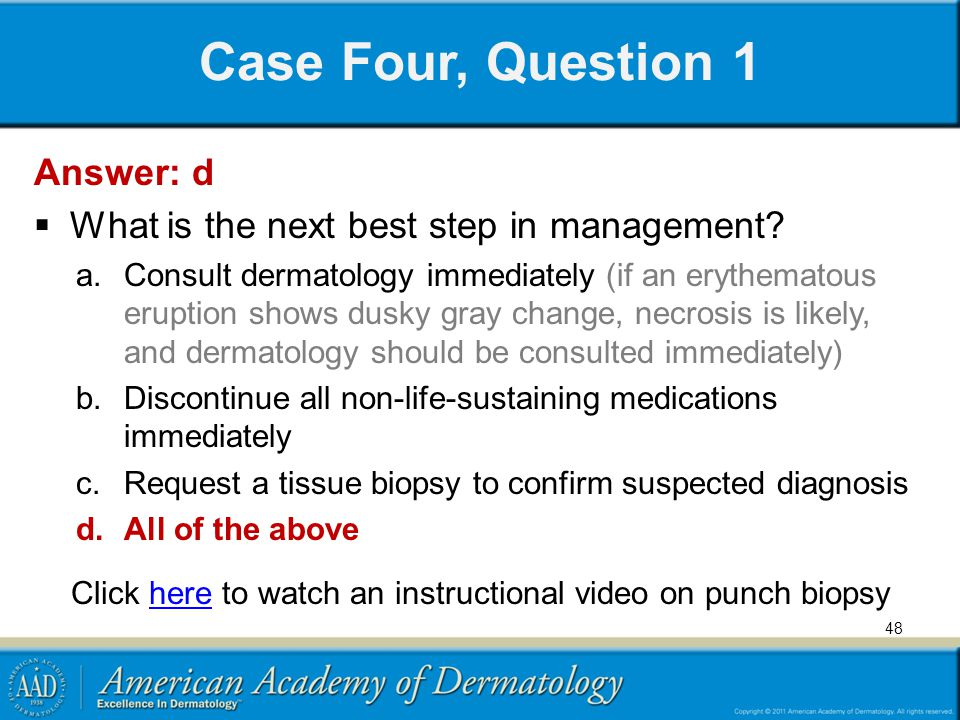 Click here to watch an instructional video on punch biopsy