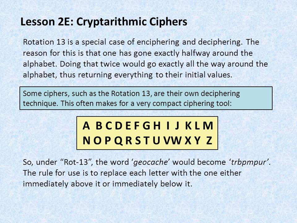 Lesson 2E: Cryptarithmic Ciphers