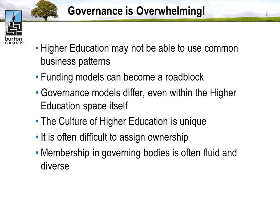 Governance is Overwhelming!