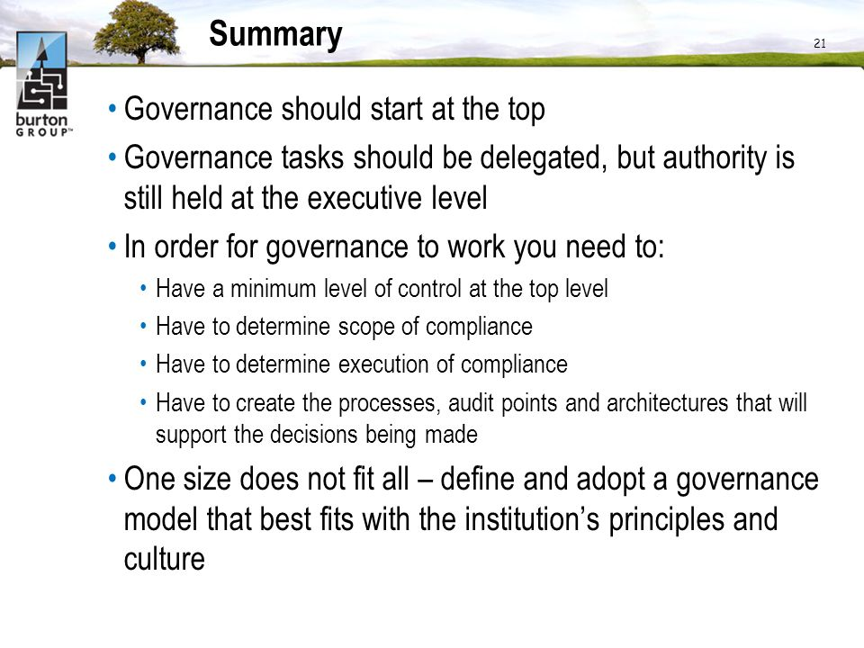 idm governance in higher education ppt