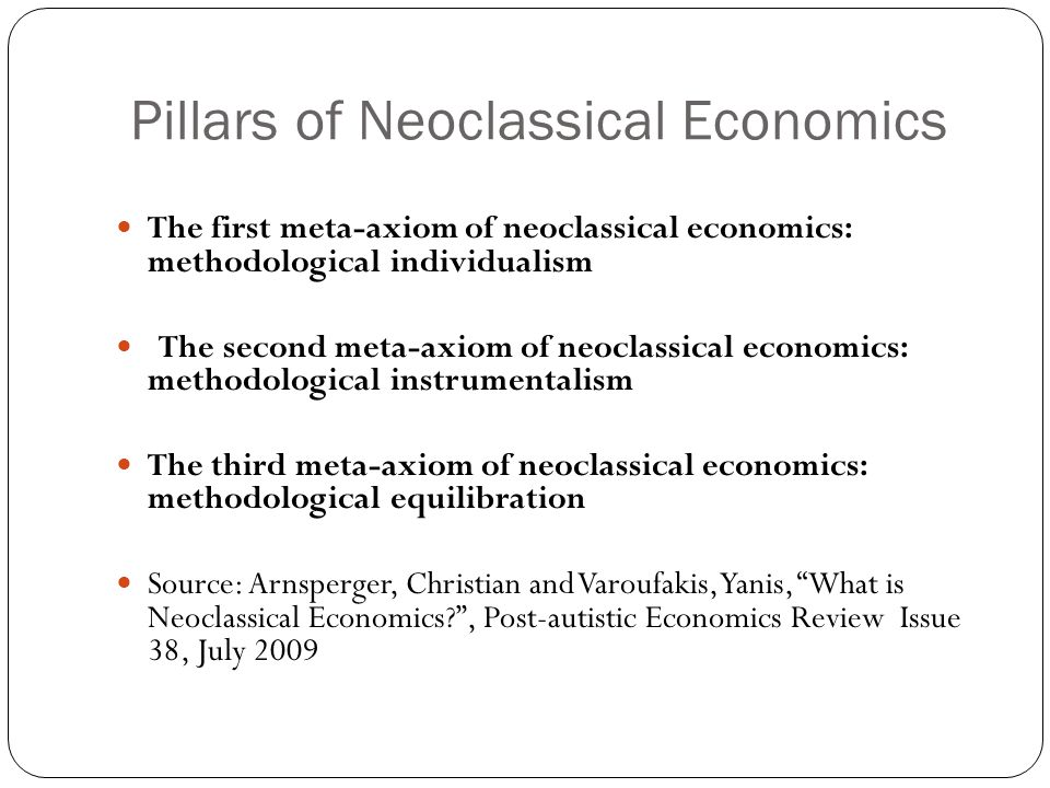Pillars of Neoclassical Economics