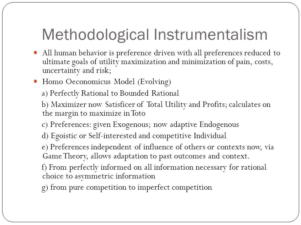 Methodological Instrumentalism